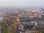 Il Wawel castle dal pallone aerostatico